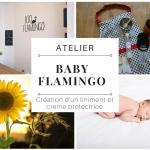"""Atelier """"Baby Flamingo"""" : création d'un liniment et d'une crème protectrice"""