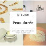"""Atelier """"Peau dorée"""": Création d'une chantilly sublimante"""